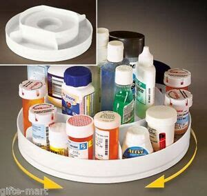 2 Tier Spice Rack Lazy Susan by Rotating 2 Tier Lazy Susan Medicine Pill Cabinet Organizer