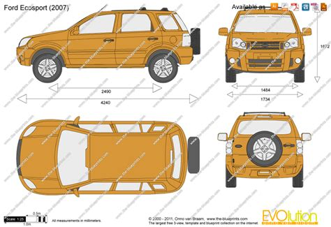 blueprintscom vector drawing ford ecosport