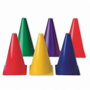 9quot Rainbow Cones Set Of 6 CM School Supply