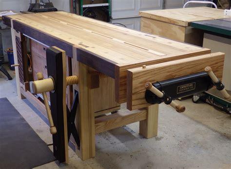 Woodworking Bench by Veritas Vise The Burton Workshop