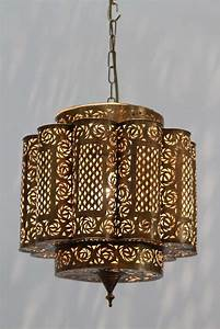 Pierced brass moroccan light fixture in alberto pinto