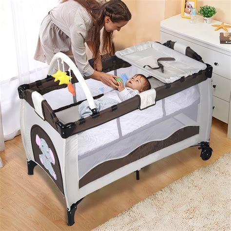 breathable crib mattress portable baby crib playpen playard pack travel infant