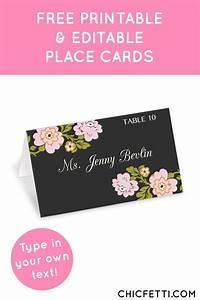 free printable whimsical botanical wedding place cards With wedding place cards print your own