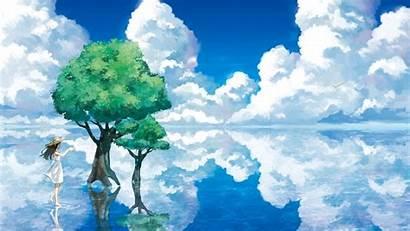 Sky Nature Animation Water Clouds Anime Desktop