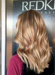 Blonde Hair Caramel Highlights
