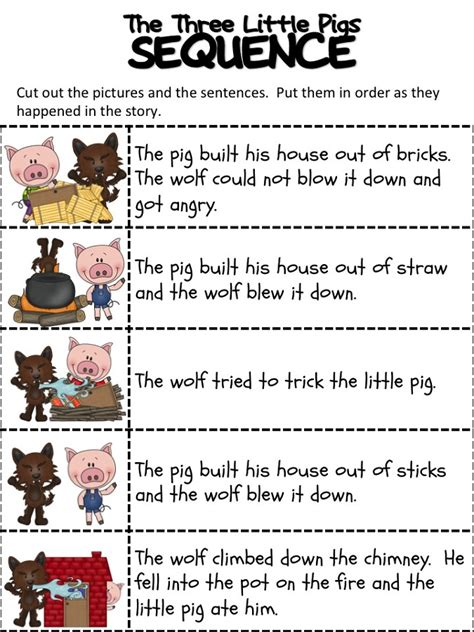 the three pigs worksheets activity shelter