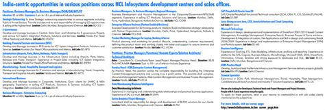it engineering technical in india hcl india