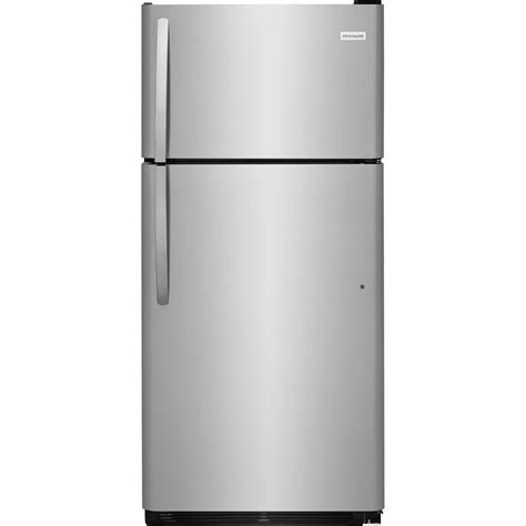 Decorating Kitchen Shelves Ideas - frigidaire 18 cu ft top freezer refrigerator in stainless steel energy star ffht1832ts the