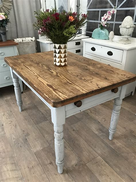 shabby chic pine table shabby chic victorian solid pine dining kitchen table eclectivo london furniture with soul