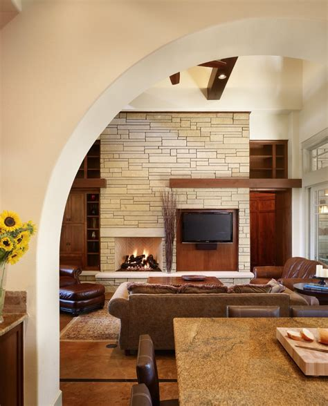 Living Room With Fireplace And Bookshelves by Unique Fireplace Mantels Living Room Craftsman With Arch