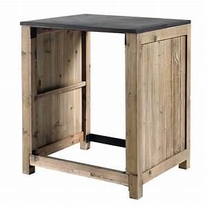 meuble de cuisine en pin recycle pour lave vaisselle l 68 With meuble pour encastrer lave vaisselle