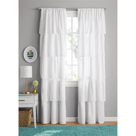 zone ruffle girls bedroom curtain walmartcom