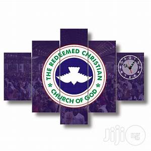 RCCG LOGO CANVAS WALL ART VWOO1 5piece for sale in
