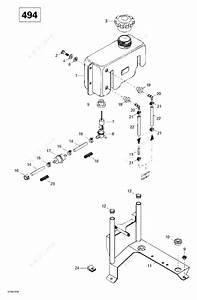 Ski Doo 2000 Skandic Wide Track - Lc  Oil Tank And Support  494