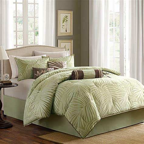 madison park freeport jacquard sage 7 piece comforter set
