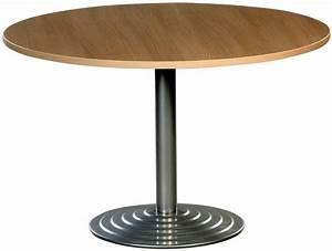 Pied De Table 90 Cm : table ronde diam tre 120 cm plateau colori h tre pi tement central colori aluminium ~ Teatrodelosmanantiales.com Idées de Décoration