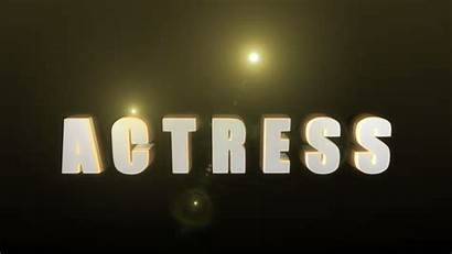 Word Letters Actress 3d Reveal Animation Flares