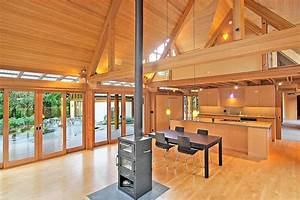 Cabin, Chic, Mountain, Home, Of, Glass, And, Wood
