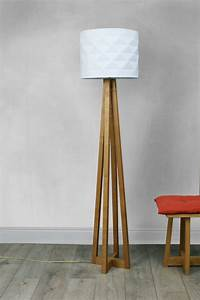 Avenir lamp stand solid oak by griffin and sinclair for Oak floor lamp stand