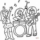 Coloring Rock Band Banda Colorir Concerto Colorear Femenina Printable Concert Desenhos Dibujo Rampelys Disegno Feminina Uma Sketch Colorare Imprimir Femminile sketch template