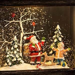Weihnachtsbeleuchtung Mit Batterie Und Timer : konstsmide led schneelaterne klein weihnachtsmann wassergef llt 1 warmwei e led ~ Orissabook.com Haus und Dekorationen