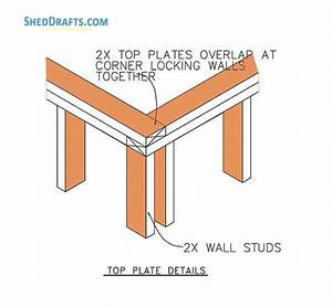 12 U00d716 Gambrel Storage Shed Plans Blueprints For Barn Style