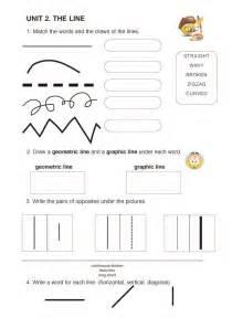 Types of Lines Worksheet Art