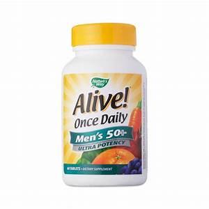 Men U0026 39 S 50  Alive  Once Daily Ultra Potency Multivitamin