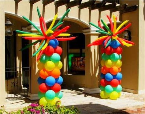 rainbow columns  images kids party decorations