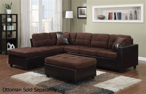 brown sectional with ottoman mallory brown leather sectional sofa steal a sofa