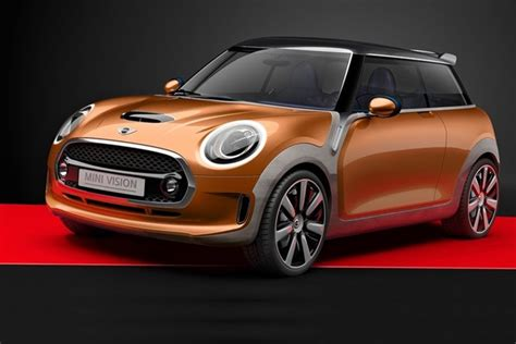 Mini Vision Concept F56 Hatch Previewed In Glamorous Gold