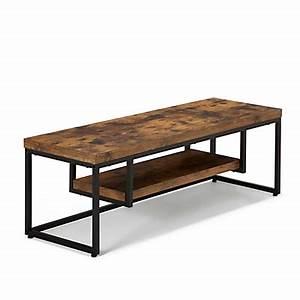console style industriel effet bois et acier manille With petit meuble d entree design 5 meuble tv fox sejour meuble tv