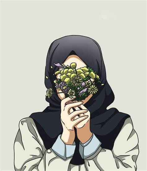 pin  ananisahh  kartun muslimah  hijab drawing art