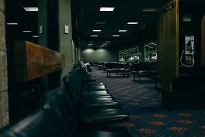 Free Images   Night  Floor  Old  Airport  Waiting  Phone