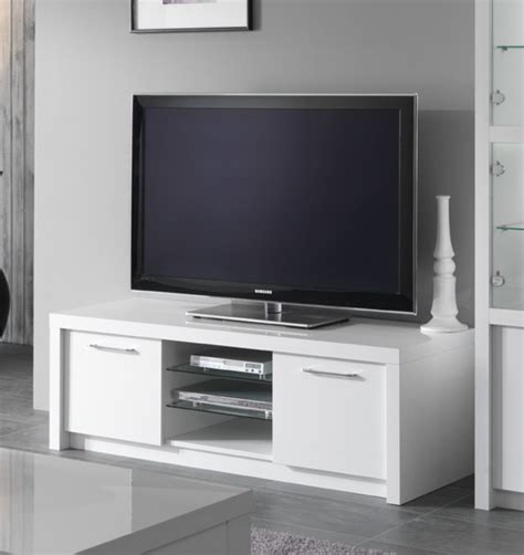 meuble chambre blanc laqué meuble tv plasma fano laque blanc brillant blanc l 150 x h