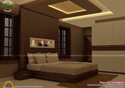 Master bedrooms interior decor - Kerala home design and