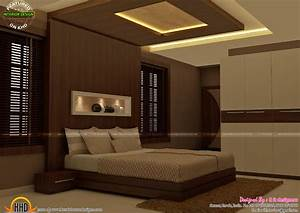 master bedrooms interior decor kerala home design and With pics of bedroom interior designs