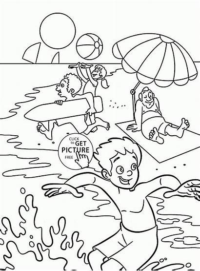 Coloring Summer Fun Pages Seasons Sheets Printable