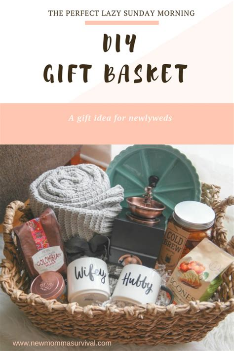 cozy morning gift basket  perfect gift  newlyweds