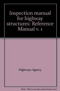 9780115527975  Inspection Manual For Highway Structures
