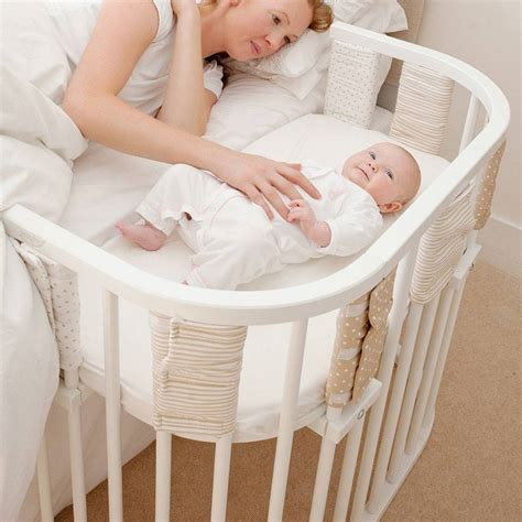Babybay Co Sleeping Cot White Natural Baby Shower