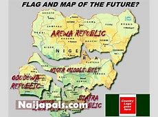 Maps & Flag of the future of then Nigeria by Opeyemi of