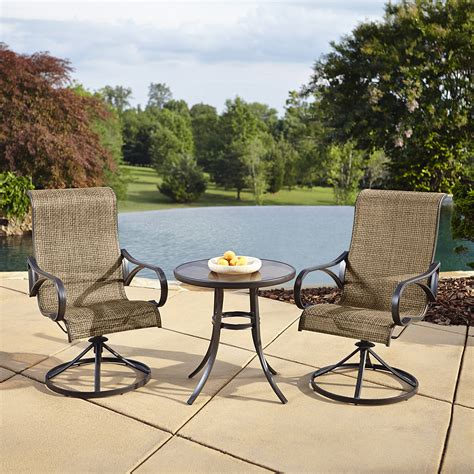 grand resort oak hill 3pc bistro with motion sling chairs