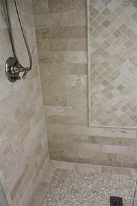 Neutral, Tile, Shower, With, Diamond, Pattern