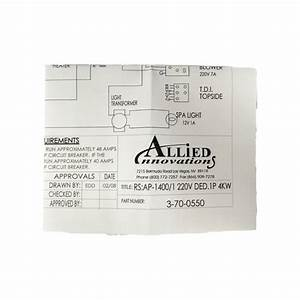 Allied Innovations 3-70-0550 Wiring Diagram Ap-1400