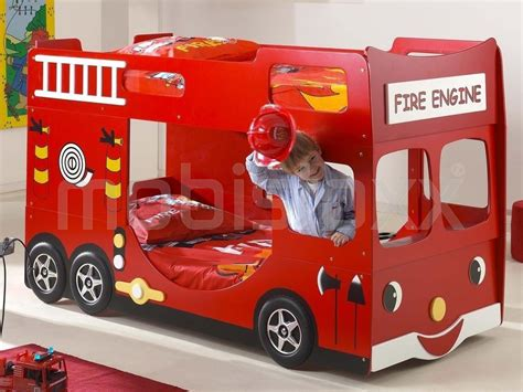fabricant de meuble de cuisine lit superposé camion de pompier 90x200 cm chez mobistoxx