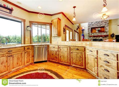 la cuisine d am駘ie interieur maison en bois cuisine