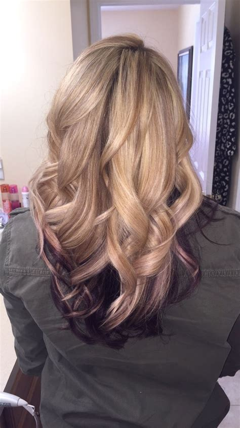 Best 25 Purple Underneath Hair Ideas On Pinterest Dyed