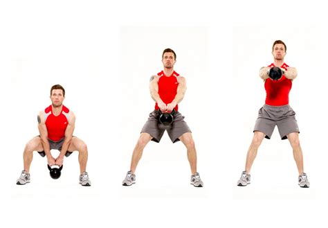 squats squat kettlebell different workout gauntlet body swing exercise exercises variations kettlebells workouts weight grueling goblet sumo swings ball variation