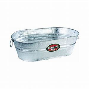 Behrens, Lot, Of, 3, 16, Gallon, Hot, Dipped, Galvanized, Water, Oval, Wash, Tubs, 6228399